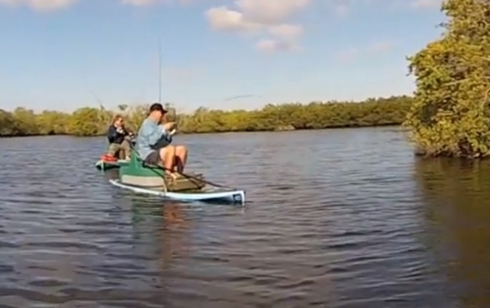 PaddleFish Sup fishing set up